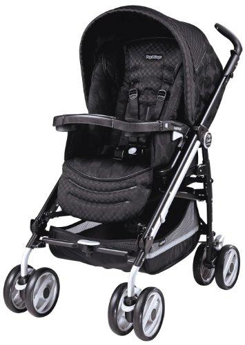 Peg-Perego 2011 Pliko Switch Compact Stroller, Pois Black