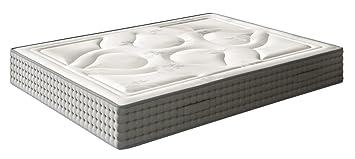 Matelas à mémoire de forme, haute gamme, Modèle ROYAL IMPERIAL Luxe-Graphene / Mousse viscoélastique graphene, 160 x 190 x 28 cm - Toutes dimensions, Blanc et gris