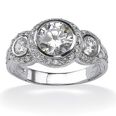 Cubic Zirconia Anniversary Ring Size: 9
