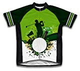 Go Green. Play Golf Short Sleeve Cycling Jersey for Women - Size L