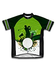 Go Green. Play Golf Short Sleeve Cycling Jersey for Women