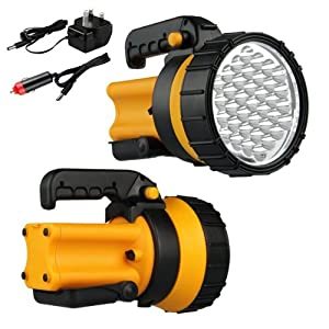 Rechargeable Handheld 37 Led High Power Spotlight Working