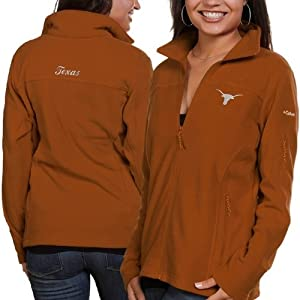 NCAA Texas Longhorns Ladies Give and Go Full Zip Fleece T-Shirt by Columbia