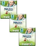 3 Packs of Moltex Nature No.1 Nappies Junior (Size 5)