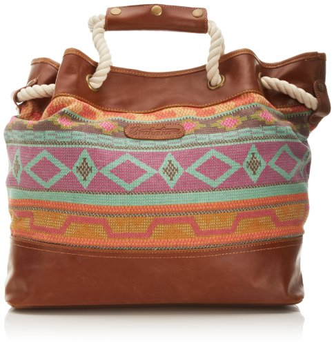 Brakeburn Womens Aztec Tote Canvas and Beach Bag