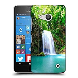 Snoogg Green Waterfall Designer Protective Phone Back Case Cover For Nokia Lumia 550