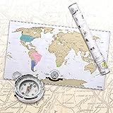 Scratch off World Map - Carte du monde à gratter en français - Taille XXL - Qualité supérieure