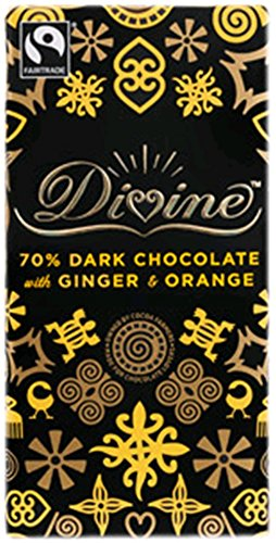 70% Dark Chocolate With Ginger And Orange (Case Of 10) 3.50 Ounces