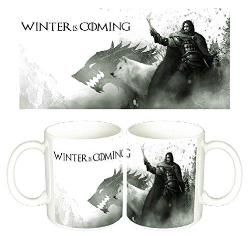 Juego De Tronos Game Of Thrones Ghost Jon Snow Tazza Mug