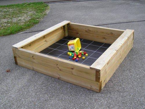 Sandkasten Bär 150×150 cm, aus 6x16cm Bohlen, Sandkiste, Buddelkiste, Sandbox, Spielkasten von Gartenwelt Riegelsberger jetzt bestellen