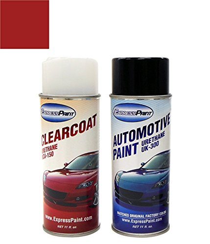 ExpressPaint Aerosol Mazda Miata Automotive Touch-up Paint - Classic Red SU - Color + Clearcoat Package (Mazda Su Classic Red compare prices)