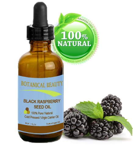 "Black Raspberry Seed Oil. 100% Pure / Natural / Undiluted / Virgin / Unrefined / Cold Pressed Carrier Oil. 1 Fl.Oz.- 30 Ml. For Skin, Hair, Lip And Nail Care. ""One Of The Highest Antioxidants, Rich In Vitamin A And E, Omega 3, 6 And 9 Essential Fatty Acid"