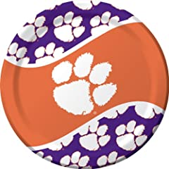Buy Creative Converting Clemson Tigers Dinner Paper Plates (8 Count) by Creative Converting