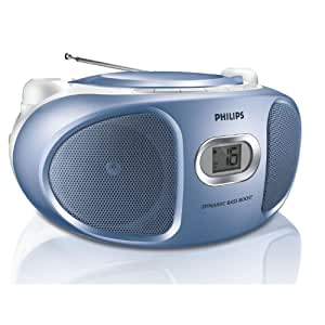 Philips AZ102N/12 Radio-CD Tuner analogique 2 x 1 W Bleu
