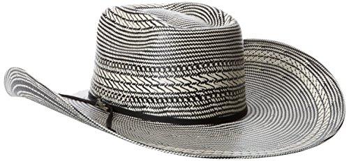 3cbafb19d7892 Tony Lama Men s Vegas Black White Straw Cowboy Hat