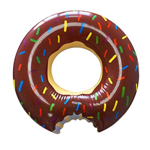 KEEDI Chocolate lovely style gigantic large donut shaped pool float