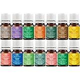 Essential Oil Variety Set- 14 Pack - 100% Pure Therapeutic Grade 5 ml. Set includes- (Bergamot, Clary Sage, Cinnamon Bark, Eucalyptus, Grapefruit, Lavender, Lemon, Lime, Patchouli, Peppermint, Rosemary, Spearmint, Sweet Orange & Tea Tree)