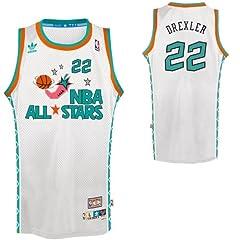 Portland Trail Blazers Clyde Drexler 1996 All Star Adidas Swingman Jersey by adidas