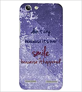 PrintDhaba Quote D-3858 Back Case Cover for LENOVO VIBE K5 PLUS (Multi-Coloured)