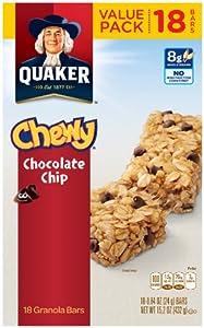 Quaker Chewy Chocolate Chip Granola Bars - 18 CT