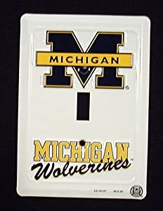 Buy Michigan Wolverines Collegiate Aluminum Novelty Single Light Switch Cover Plate by Smart Blonde