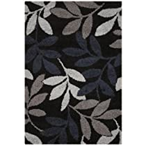 "Hot Sale Couristan Moonwalk Lunar Garden Black Rug 9'2"" x 12'5"""