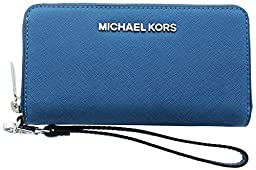 Michael Kors Jet Set Women\'s Smartphone Wallet Pocket Book Blue