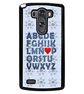 PRINTVISA Alphbet Premium Metallic Insert Back Case Cover for LG G3 - D6061