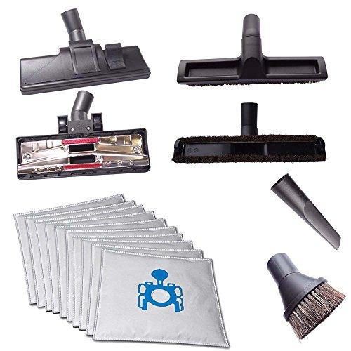 4 verschiedene Staubsaugerdüsen (Teppich-, Hartboden-; Fugendüse & Saugpinsel) inkl. 10 Staubsaugerbeutel passend für Kärcher A 2701