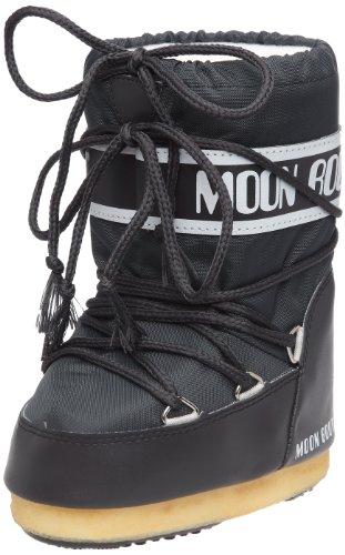 Tecnica MOON BOOT NYLON 140044, Unisex-Kinder Schneestiefel, Grau (ANTHRACITE 5), EU 23