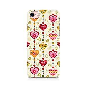 NXT GEN Hearts Premium Printed Mobile Back Case Cover For Apple iPhone 7