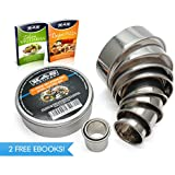 11 Piece Biscuit Cutter Set ROUND for Pastry Dough Crumpet Rings Cookies Mold Donuts Pancakes Pizza Sandwich English Muffin Scones PROFESSIONAL HIGH QUALITY DELUXE Range of 304 Stainless Set With 2 FREE eBOOKs, Most Sold in Europe RUST PROOF!