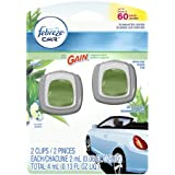 Febreze Car Gain Original Air Freshener (2 Count, 2 Ml Each), 0.13 Ounce