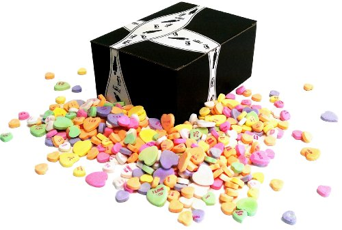 Necco Large And Small Classic Sweethearts Conversation Hearts, 1 Lb Mixed Bag In A Gift Box front-290017
