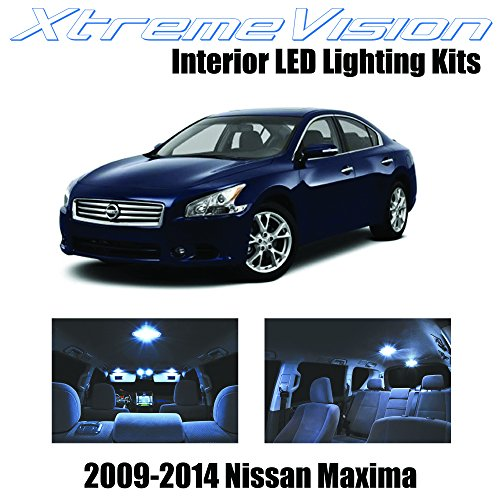 xtremevision-nissan-maxima-2009-2014-11-pieces-cool-white-premium-interior-led-kit-package-installat