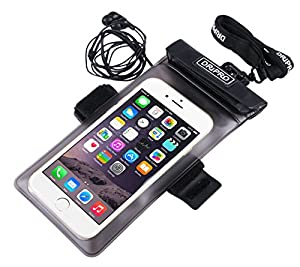 """Etui étanche Dripro Advance Pack avec écouteurs waterproof pour iPhone 6 Plus (5,5"""") et tailles équivalente (Waterproof 10m et certifié IPX8) ..."""