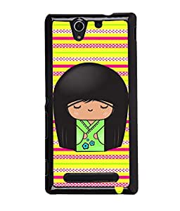 Fuson Multi lines Pattern Back Case Cover for SONY XPERIA C3 - D3846