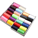 KINGSO 24pcs 1000 Yard Assorted Colors Polyester Sewing Thread Spool Set Assorted Colors