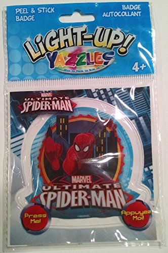 Yazzles Light Up Spiderman - City Background - Peel & Stick Badge - 1