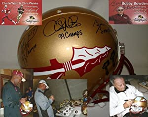 Bobby Bowden, Charlie Ward and Chris Weinke Hand Signed Autographed Florida State... by Sports+Memorabilia