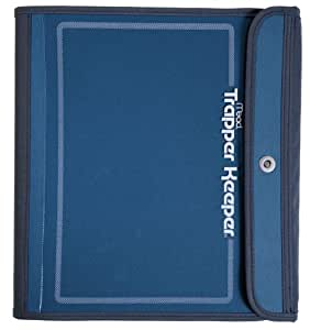 Mead Trapper Keeper Sewn Binder, 3 Ring Binder, 1.5 Inch, Blue (72177)