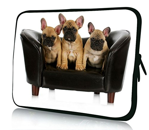 10 inch Rikki Knight French Bulldog Litter Design Laptop sleeve - Ideal for iPad 2,3,4, iPad Air, Galaxy Note, Small Notebooks and other Tablets (Bulldog Laptop Case compare prices)