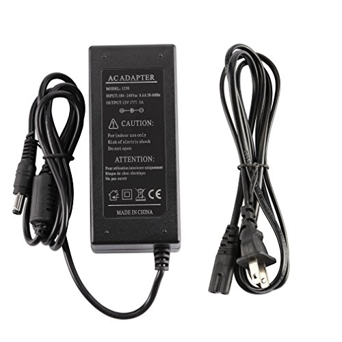 LEDMO Power Supply, Transformers,LED Adapter, 12V, 5A Max, 60 Watt Max, for LED Strip (12v Led Power Supply compare prices)