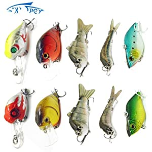 Skysper 10pcs lot Topwater Frog Hollow Body Soft Bait Fresh Water Fishing Lure Bass... by Skysper