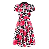 H&R London Dress 5039 POPPY DOTS DRESS white