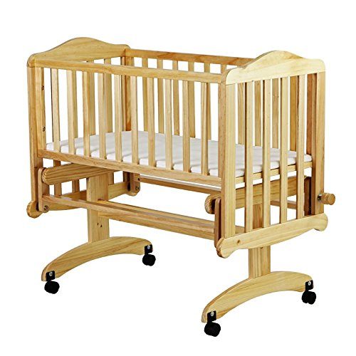 Dream On Me Lullaby Cradle Glider, Natural - 1