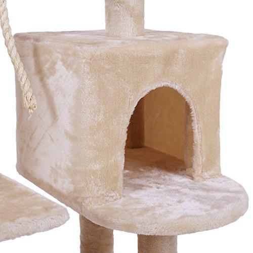 Songmics-rbol-para-gatos-Rascador-con-nidos-plataformas-bolas-de-juego-gran-base-134-cm-colores-opcionales