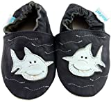 MiniFeet Soft Leather Baby Shoes, Jaws