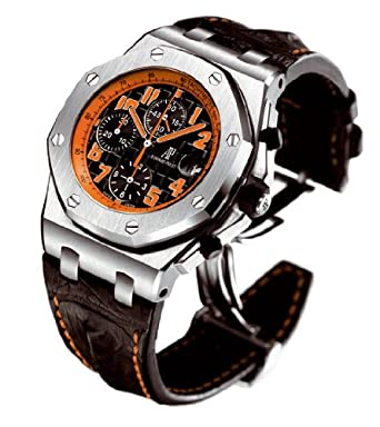 Audemars Piguet Royal Oak Offshore Black Leather Mens Watch 26170STOOD101CR01