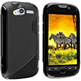 Leegoal(TM) Black Protective Dual Texture Fusion Rubberized Silicone Skin Cover Case for HTC T Mobile MyTouch 4G